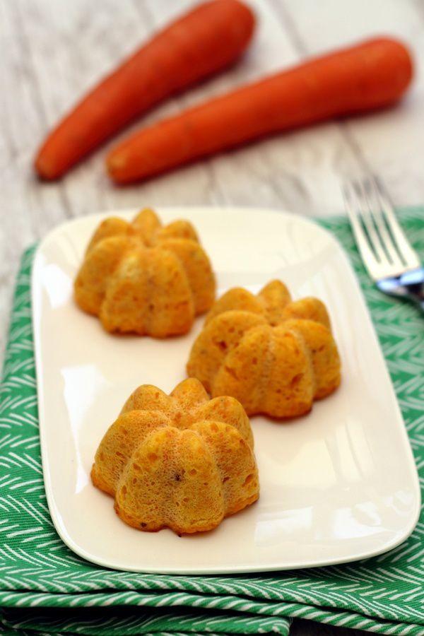 flan à la carotte et fromage