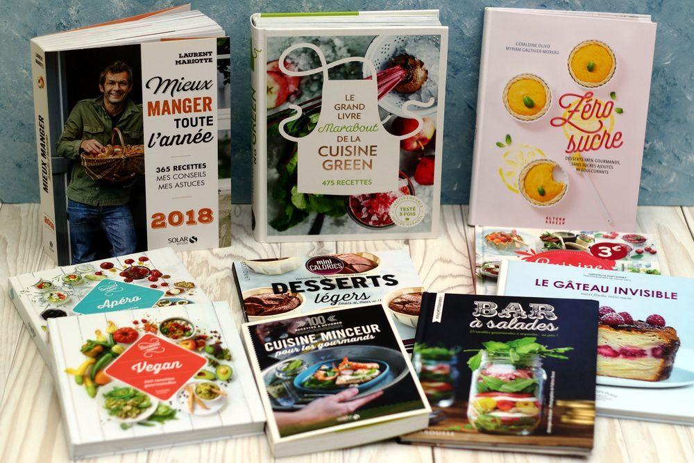 sélection de livres pour manger sainement