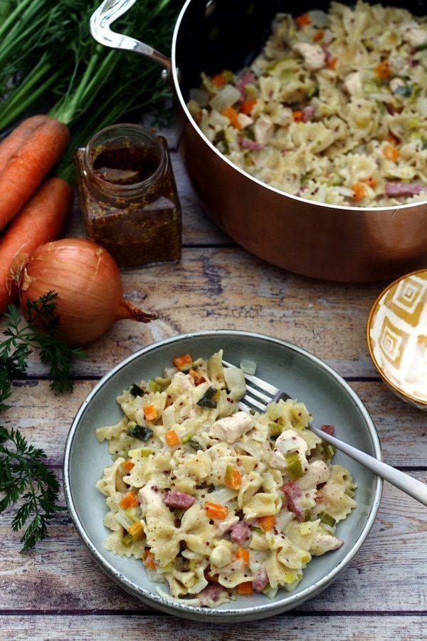 one pot pasta poireaux carotte