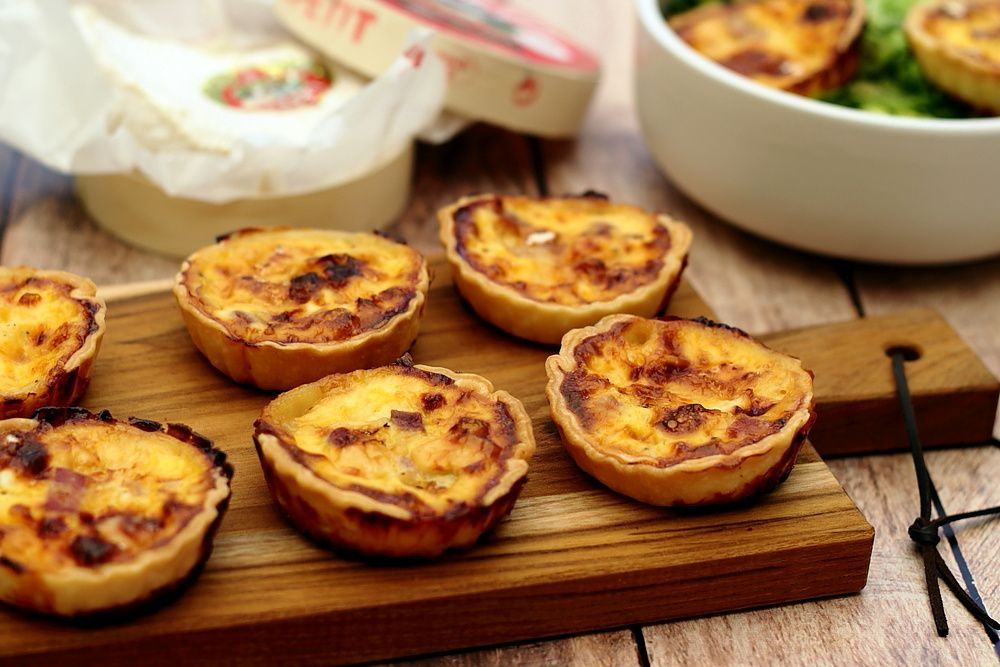 quiche camembert bacon
