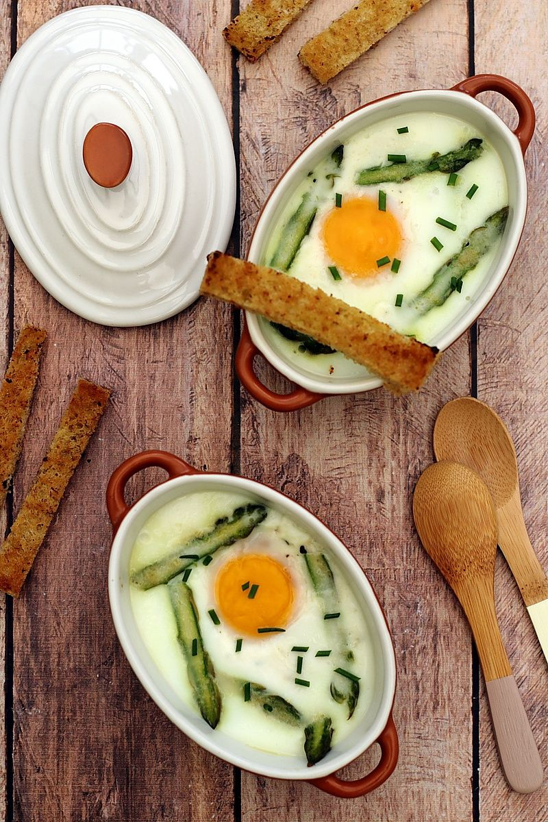 oeuf cocotte asperge