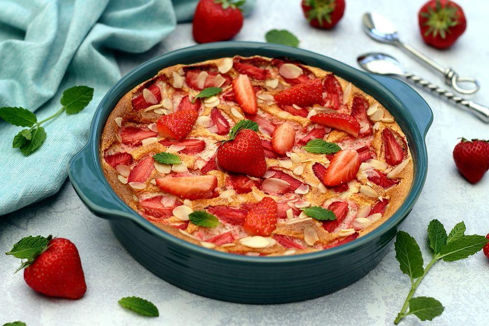 gratin aux fraises