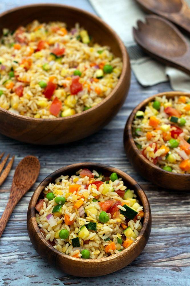 Salade de riz complet (végan)