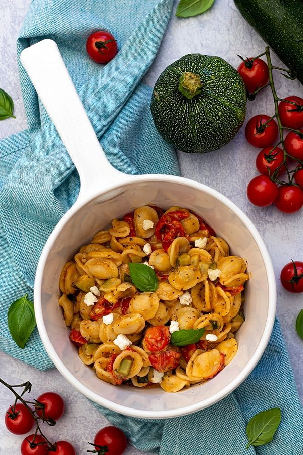 one pot pasta courgette