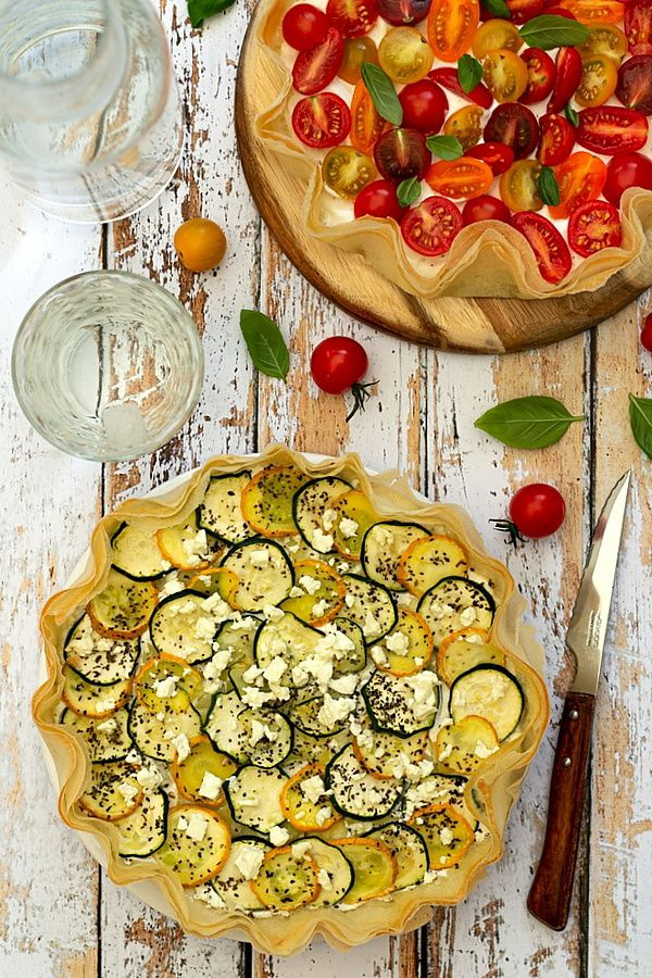 tarte brick courgette