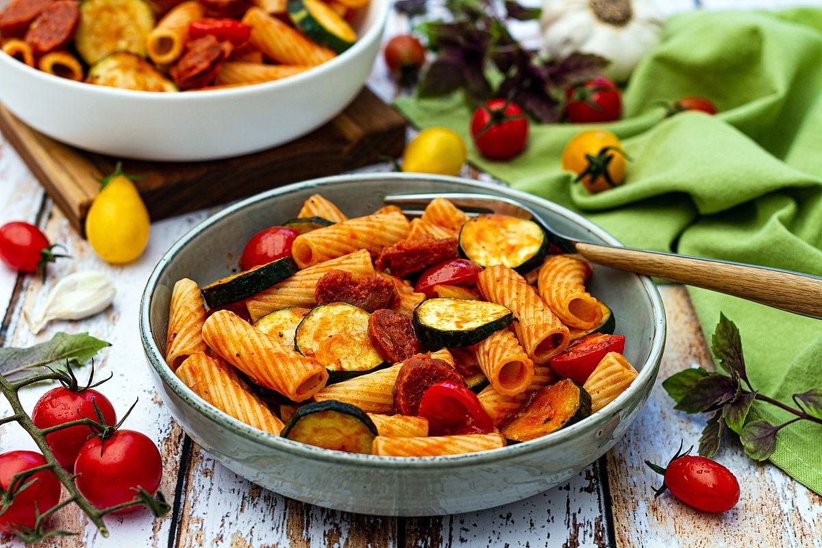 pate chorizo courgette tomate