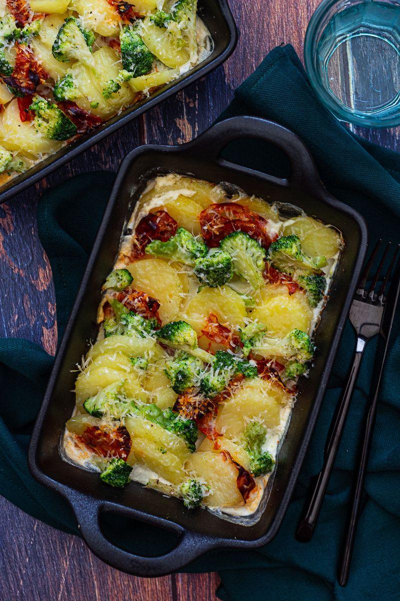 Gratin de pommes de terre au brocoli et chorizo - Amandine ...