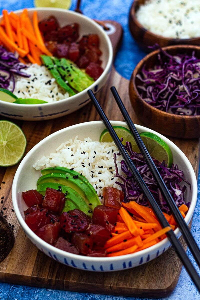 poke bowl thon recette