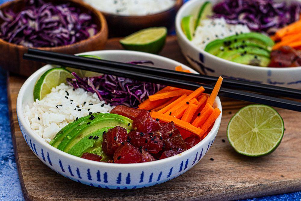 poke bowl thon riz