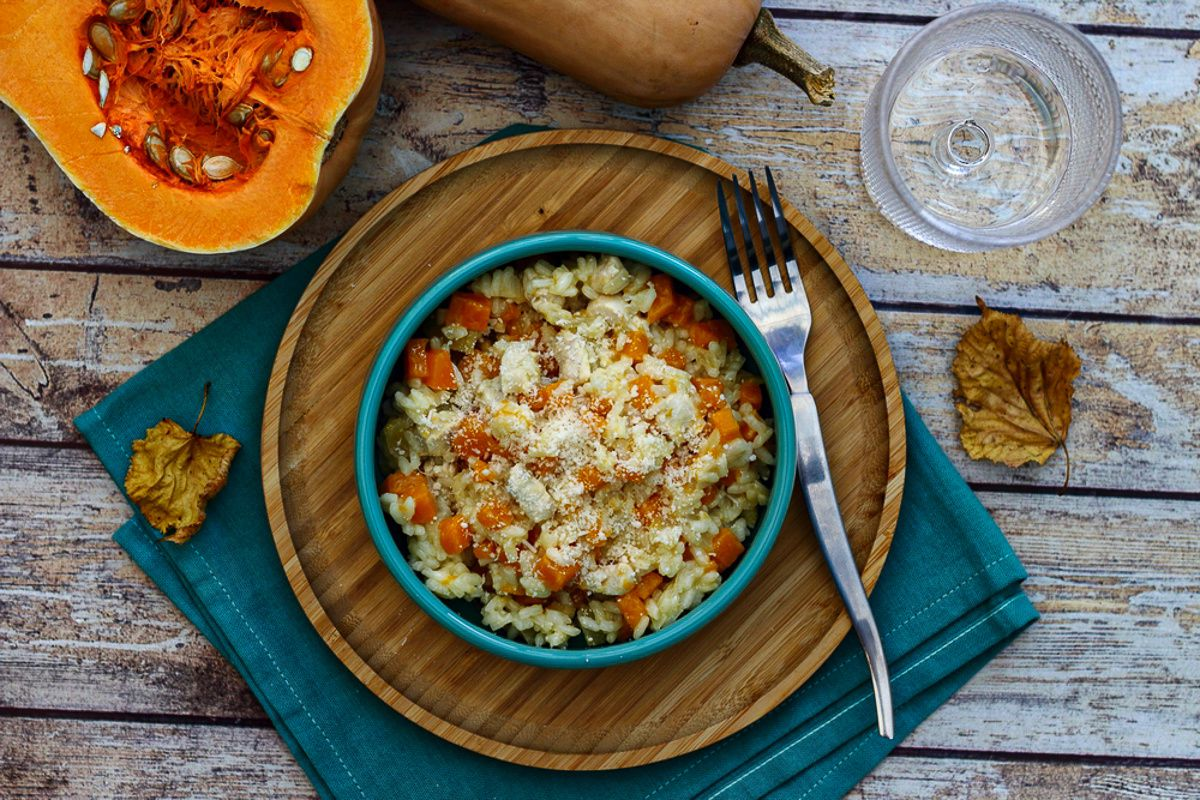 risotto butternut poulet