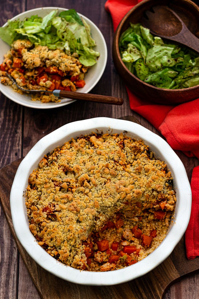 chicken and vegetable crumble