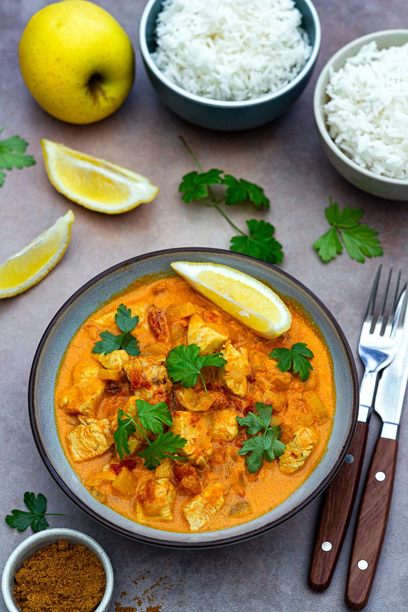 curry poulet coco cookeo