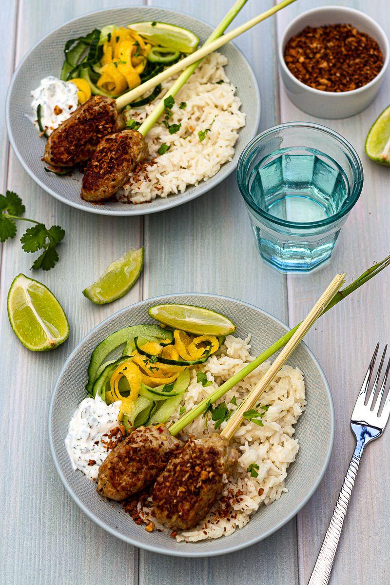 brochette de poulet riz coco