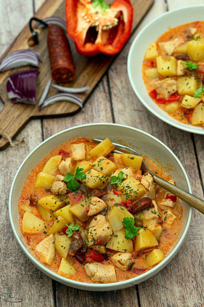 poulet pommes de terre cookeo