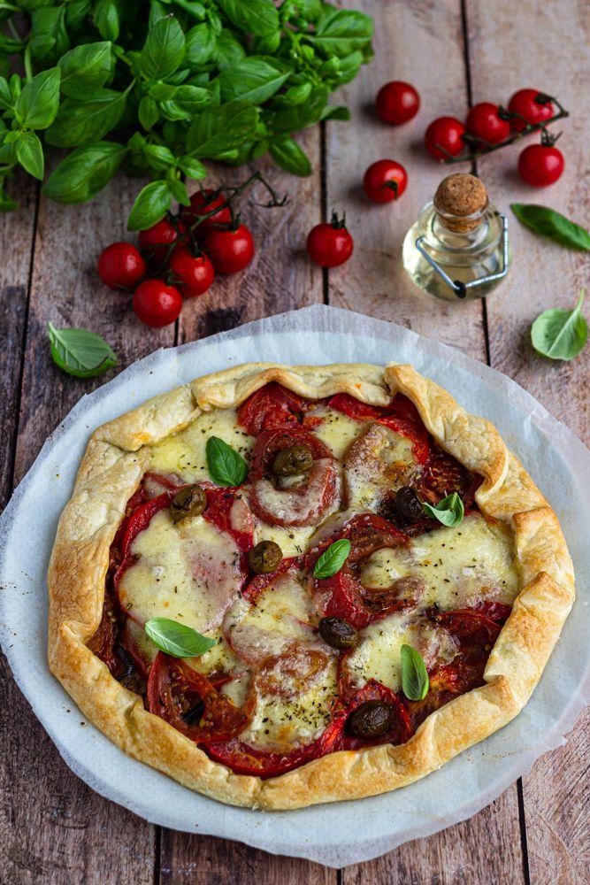 tarte rustique tomate aubergine