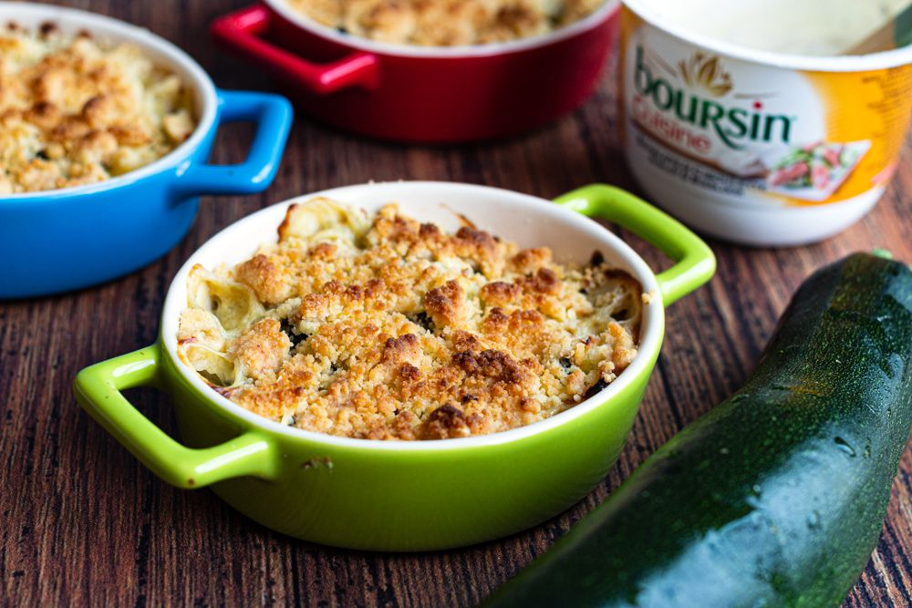 crumble courgettes boursin