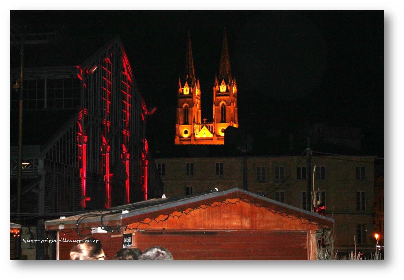 les halles - l'église St André - la Mairie