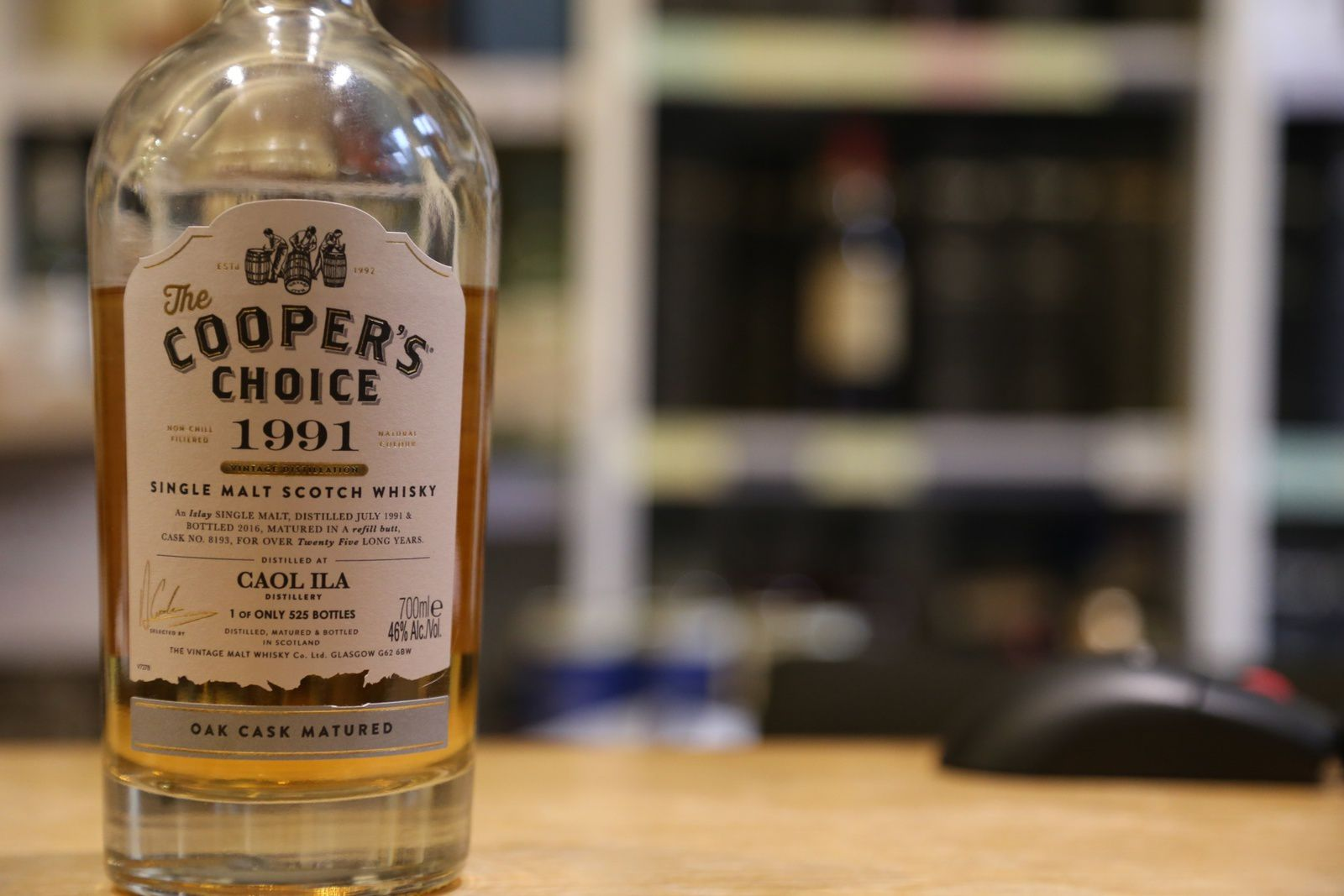 Caol Ila 1991/2016 The Cooper's Choice, 25 ans, 46%
