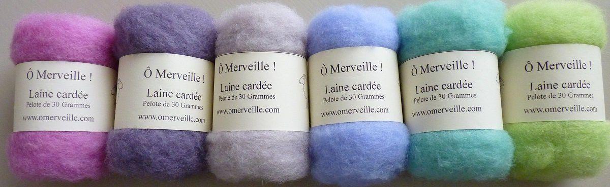 1 pelote de laine cardée OFFERTE