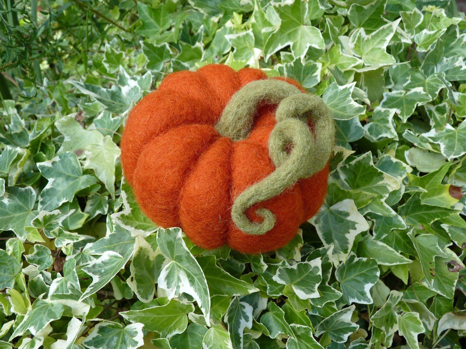 Citrouille feutrée... mettez des couleurs d'automne dans votre déco