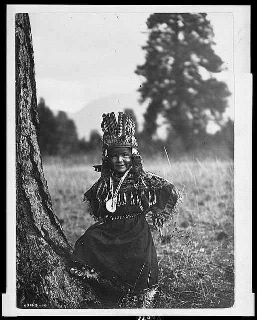 Flathead boy. Photography: Edward S. Curtis. Library of Congress.