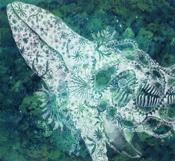 The forest whale  地上に生きるものたちへ Blessing to living on the earth, par Maki Ohkojima