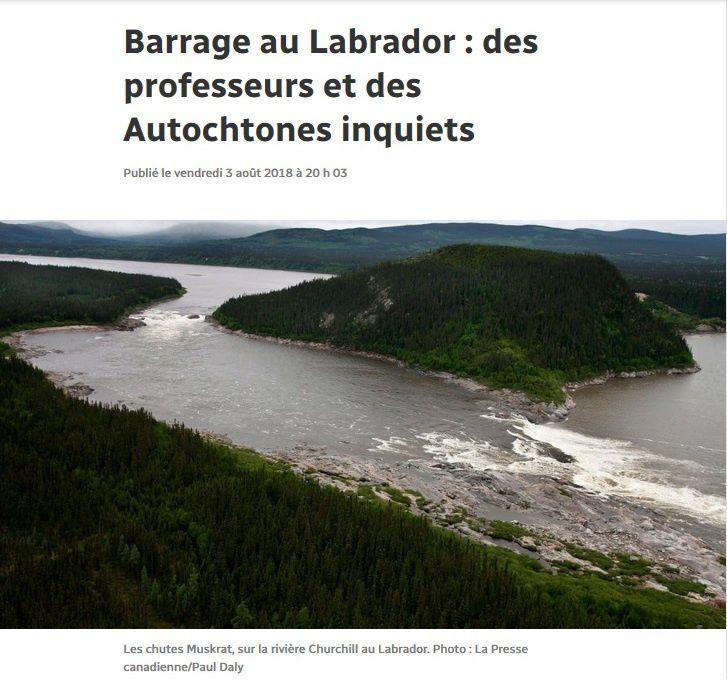 Non au projet de barrage de Muskrat Falls (Terre-Neuve / Labrador)