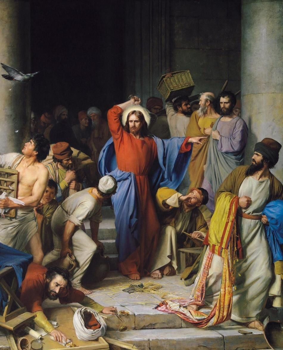 Carl Heinrich Bloch (1834 1890): Jesus Casting out the Money Changers