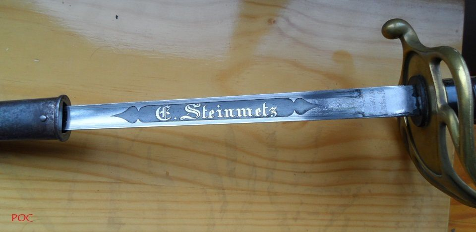 L'épée de mon arrière-grand-père le chef d'escadron Théodore Louis Emile Steinmetz (1859-1940).