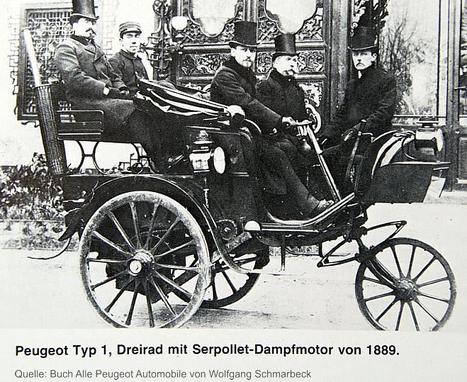 Peugeot Type 1 with Daimler / Maybach engine, 1889