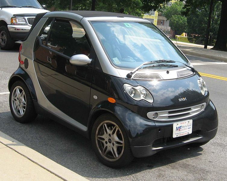 American Smart - The way to park a Smart in Europe - Next Generation of Smart Forfout mule wearing Renault Twingo duds