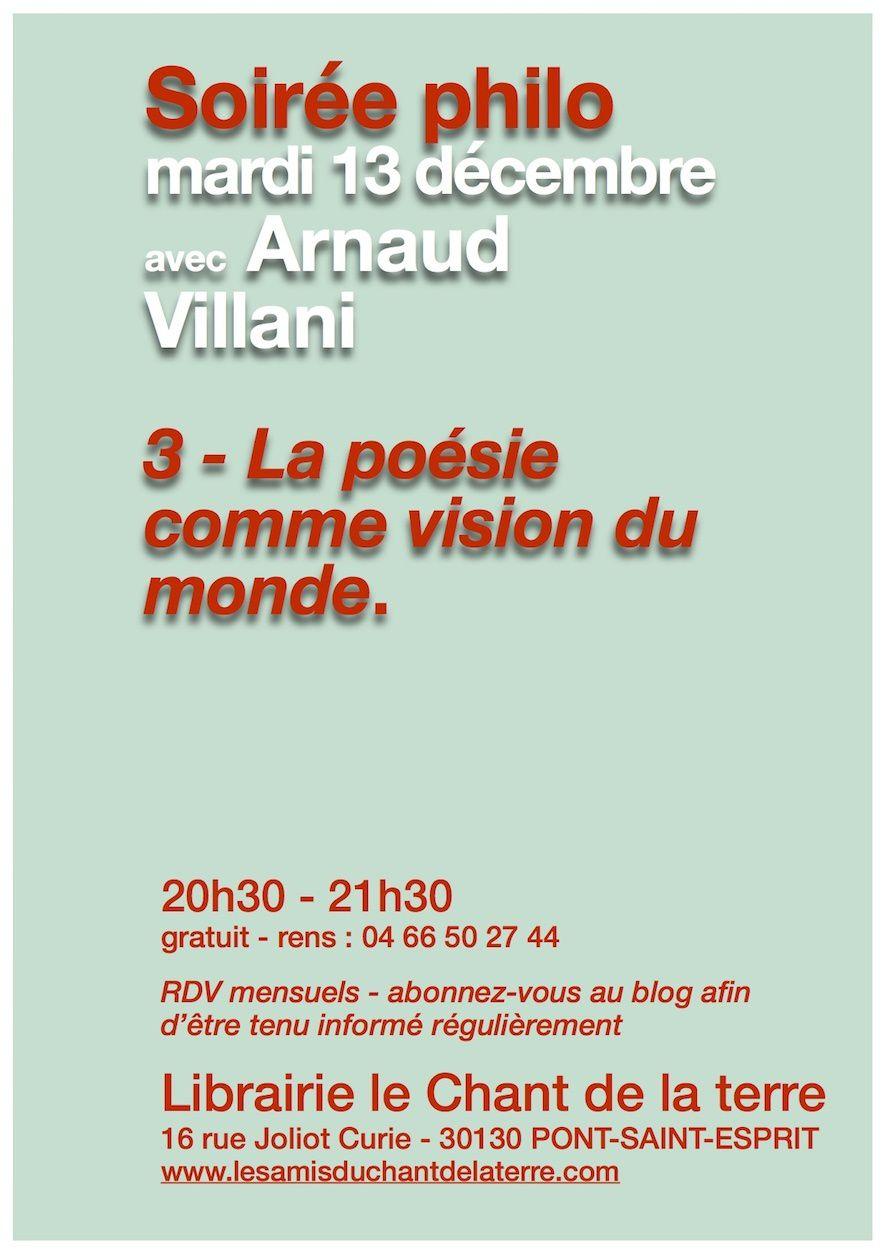 3e soirée Philo avec Arnaud Villani
