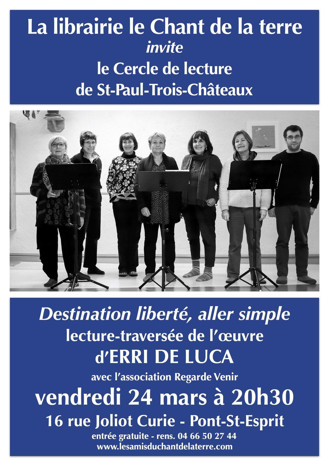 Rappel : soirée Erri De Luca vendredi 24 mars !