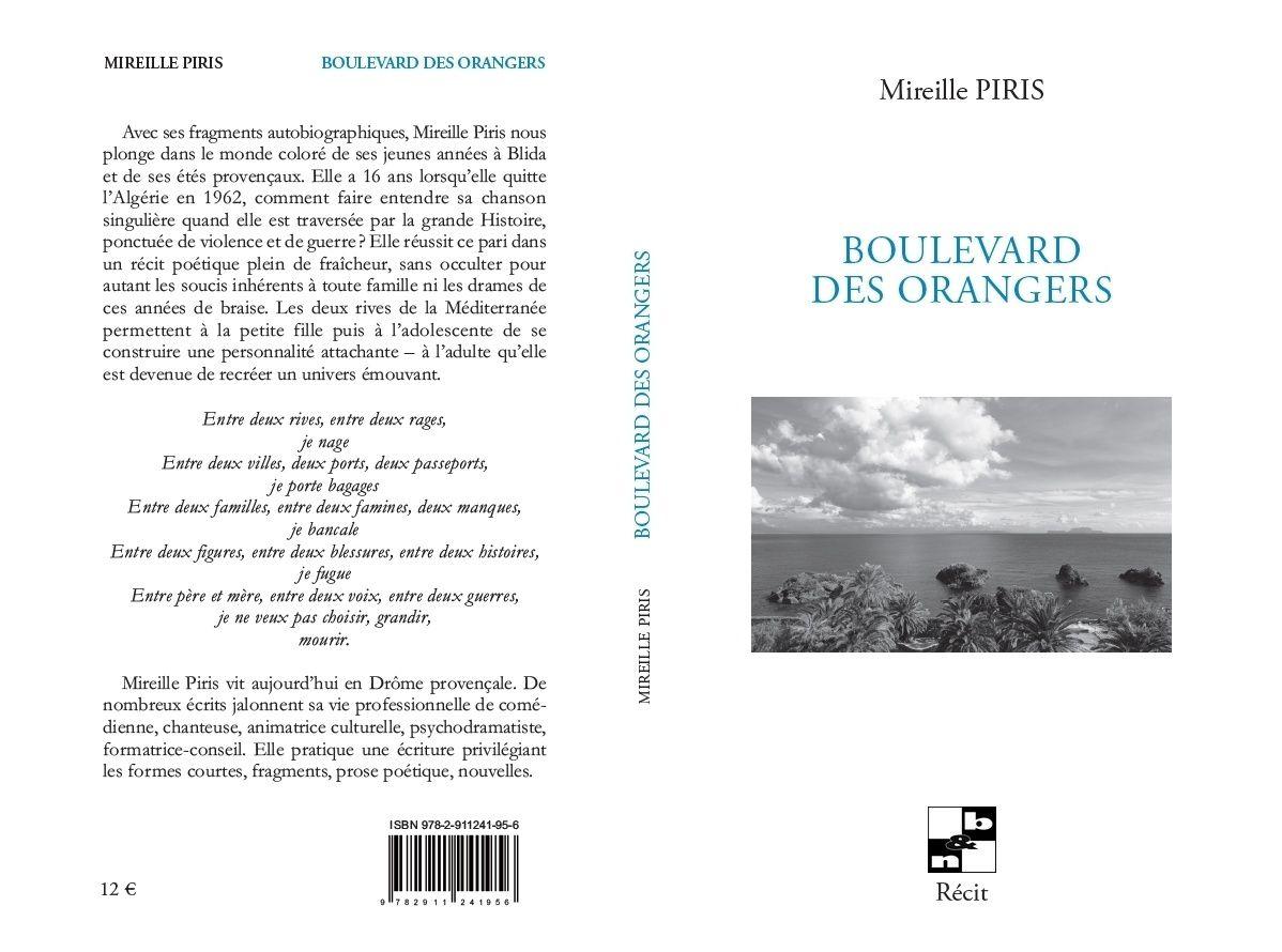 Lecture de Boulevard des orangers de Mireille Piris