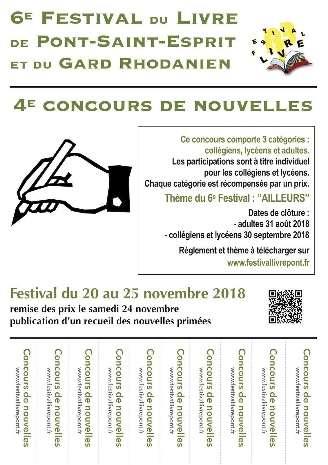 4e Concours de nouvelles du Festival du Livre de Pont-Saint-Esprit et du Gard Rhodanien