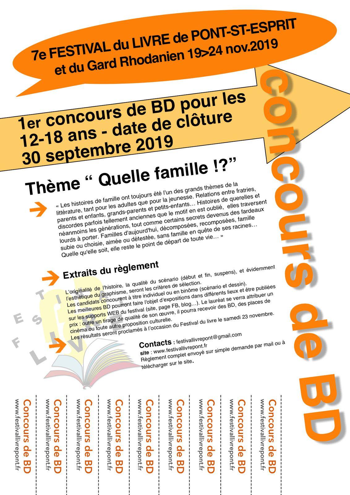 Festival du livre 2019 : lancement de deux concours !