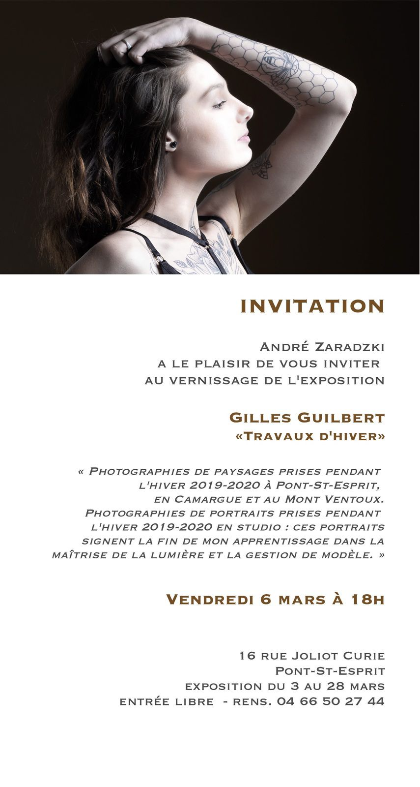 Exposition de mars : Gilles Guilbert photographies