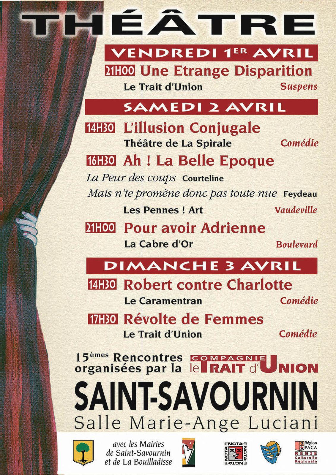 Festival de théâtre à Saint Savournin