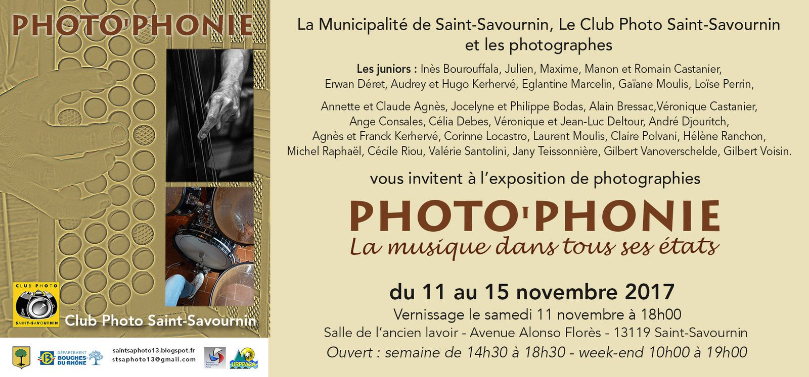 L'expo photo annuelle du Club Photo de Saint Savournin, c'est ce week-end !