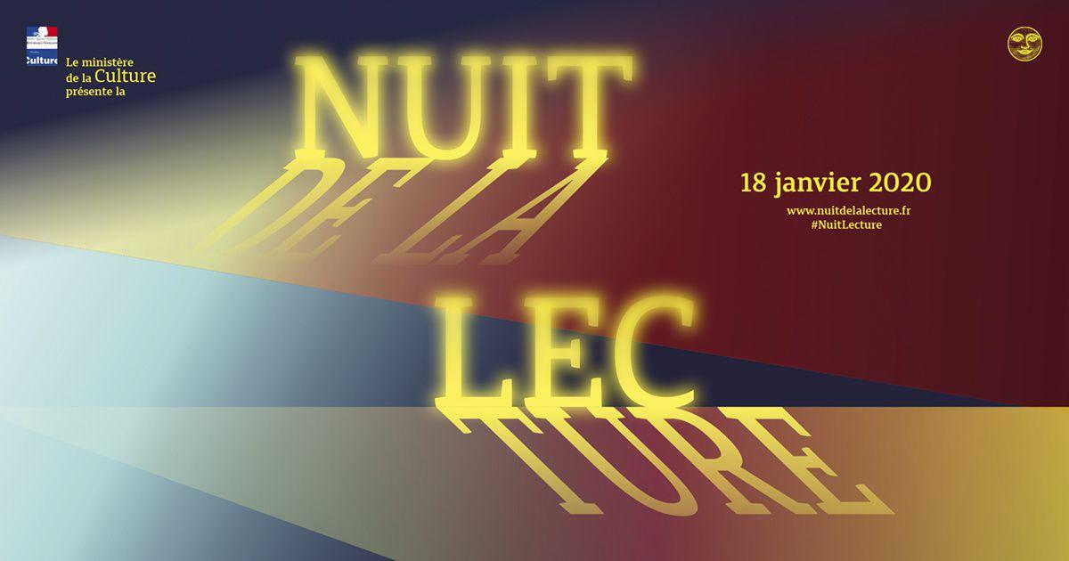 Nuit de la lecture samedi 18 janvier 2020
