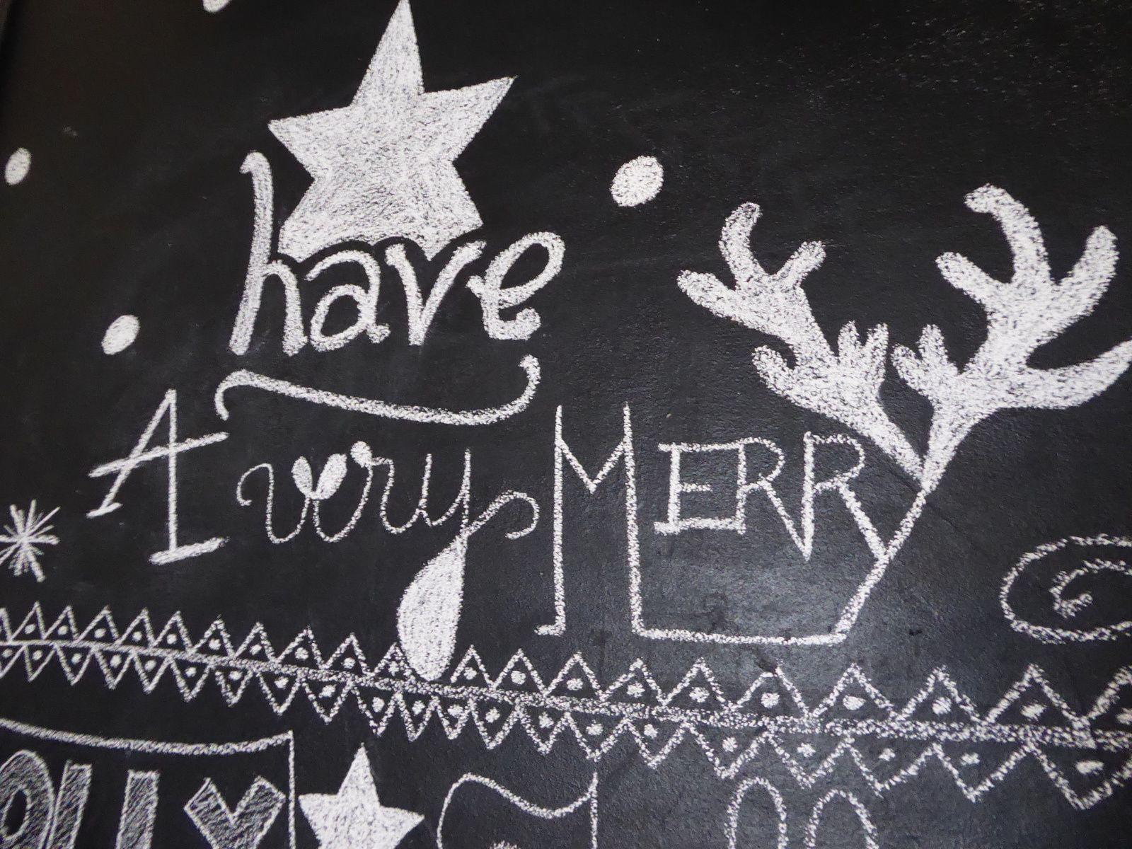 Noël à la craie...