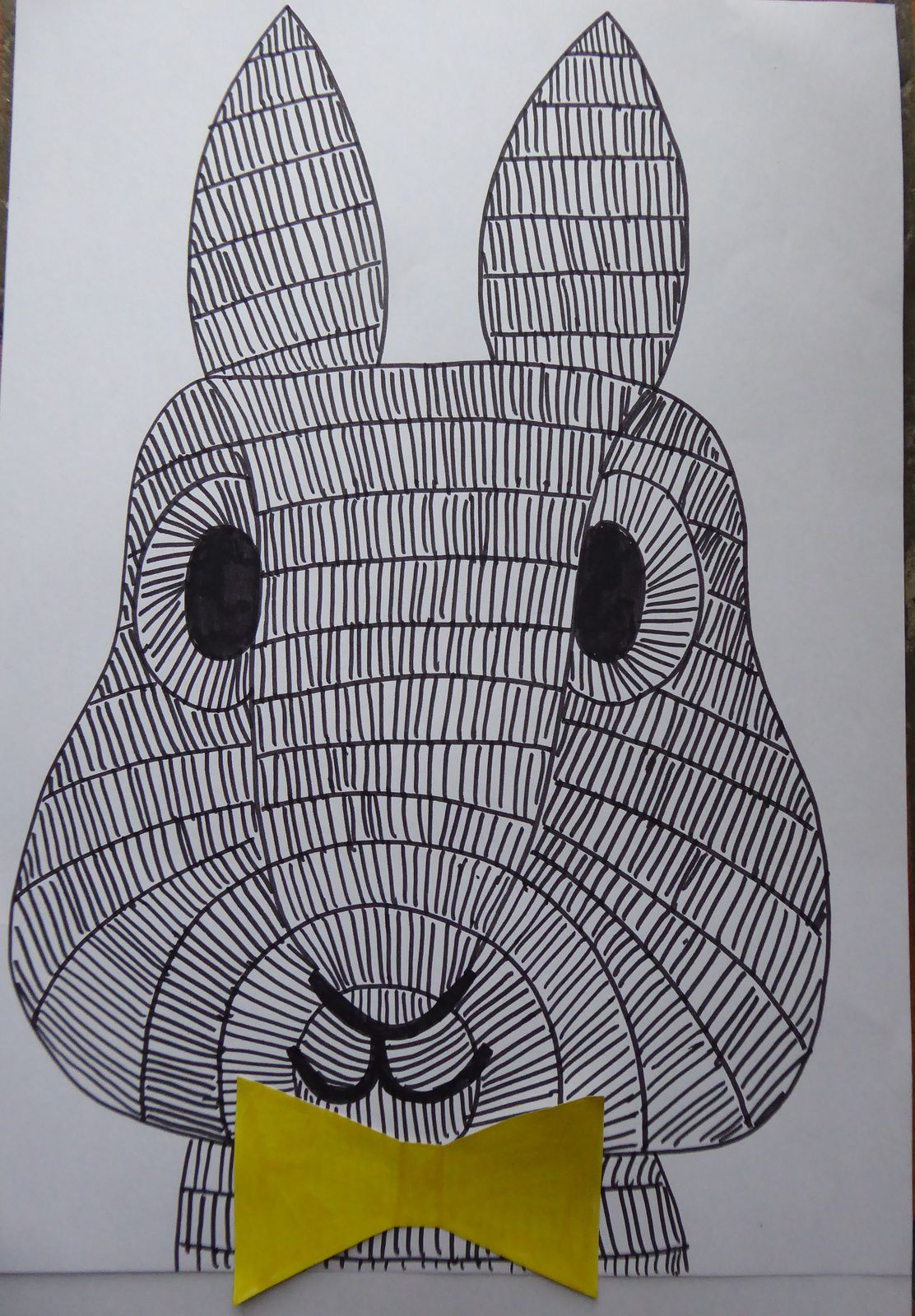 Le lapin à rayures