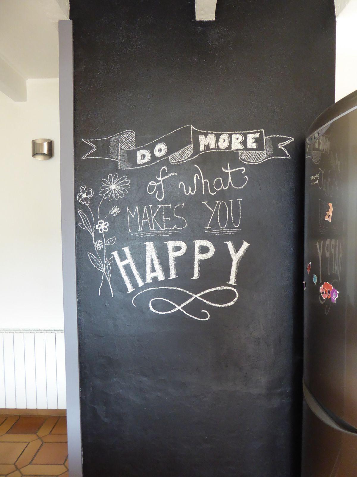 Nouvelle phrase sur le mur ardoise