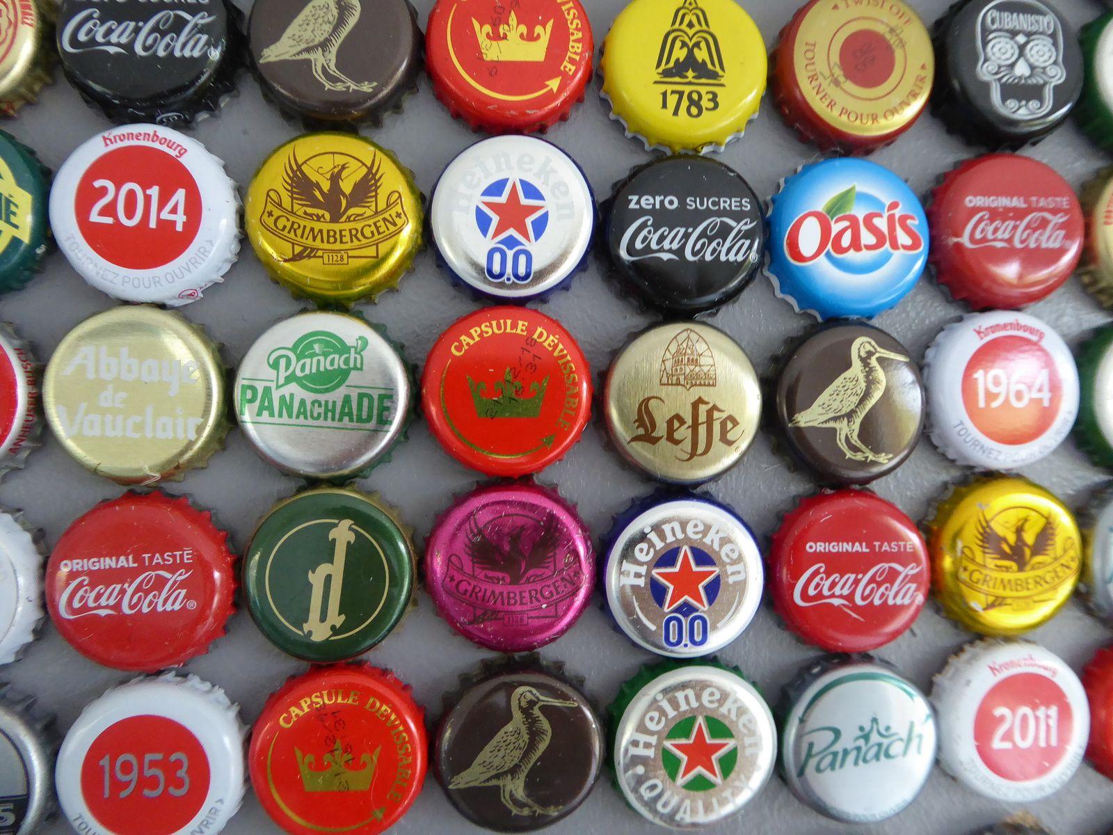 Le tableau en capsules de bières