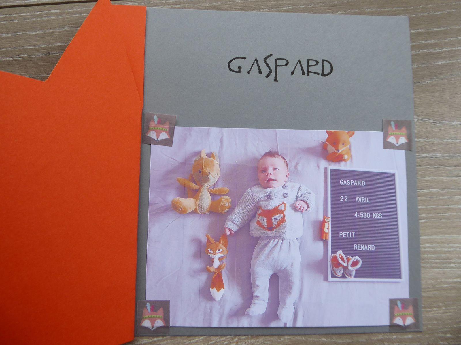Le faire-part de Gaspard