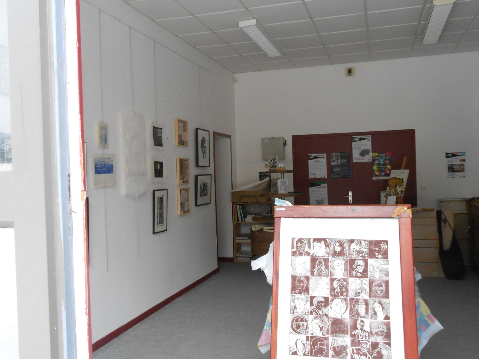 Le dernier lieu d'expo autodidarts , face au théatre de Saint Nazaire
