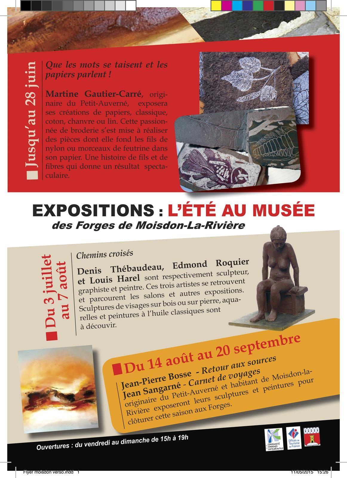 Prochaine expo aux Forges de Moisdon la Rivière 44
