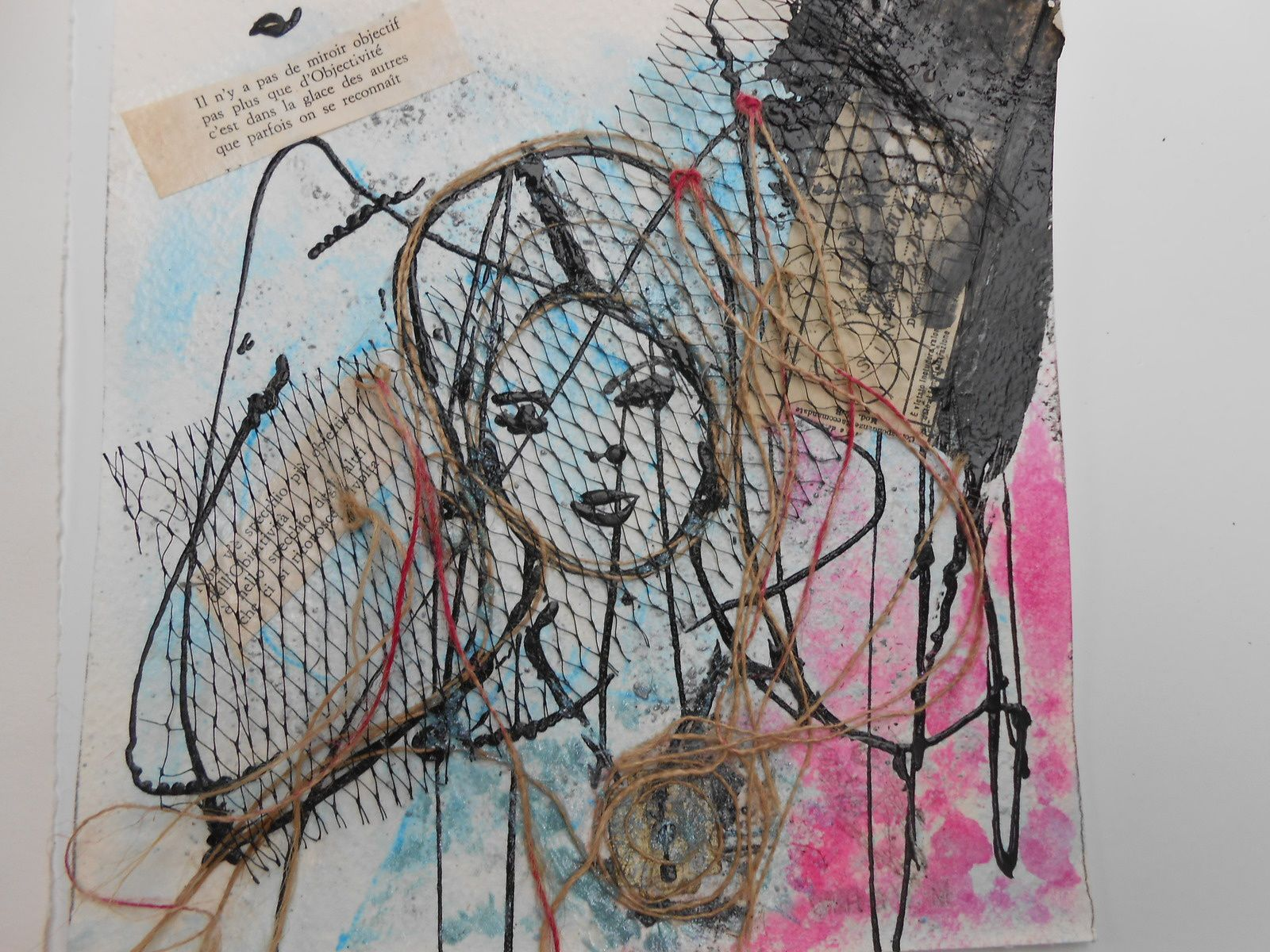 Michèle Riesenmey pour qui j'ai fabriqué des carnets vierges qu'elle a transformé en superbes livres d'artistes et Virginia Micili artiste italienne