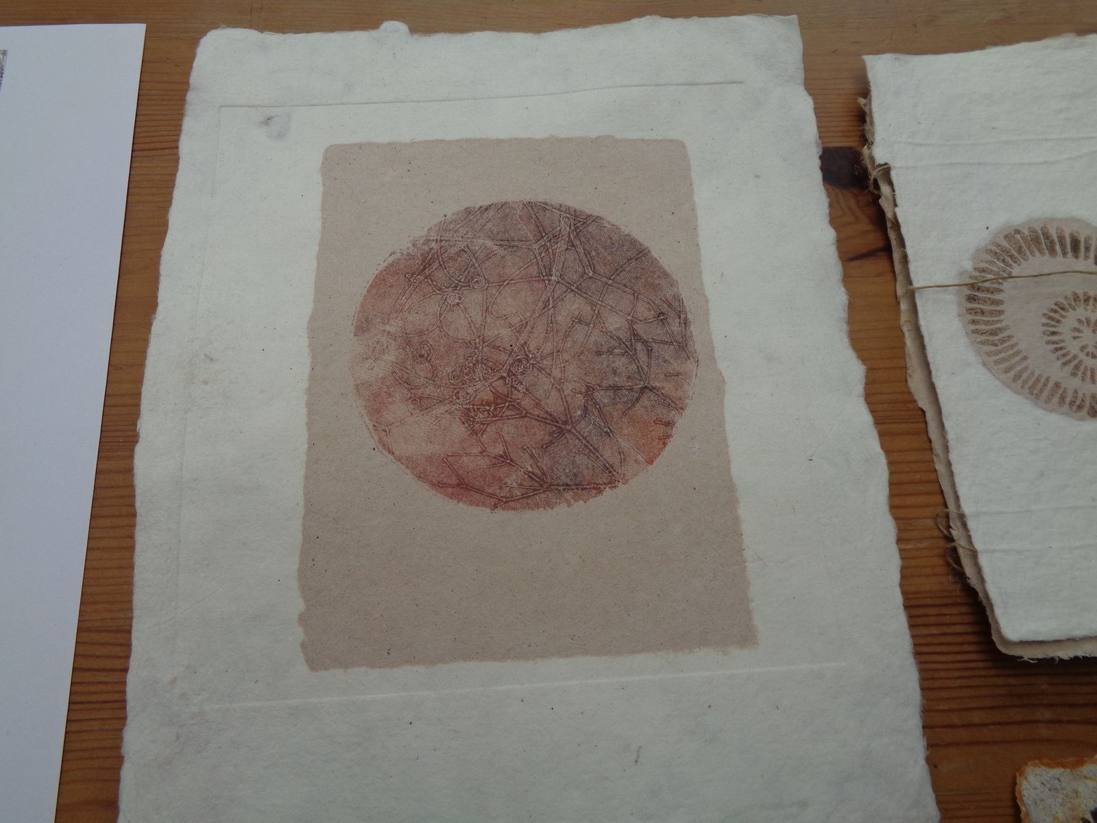 Stage papier , lino monotypes