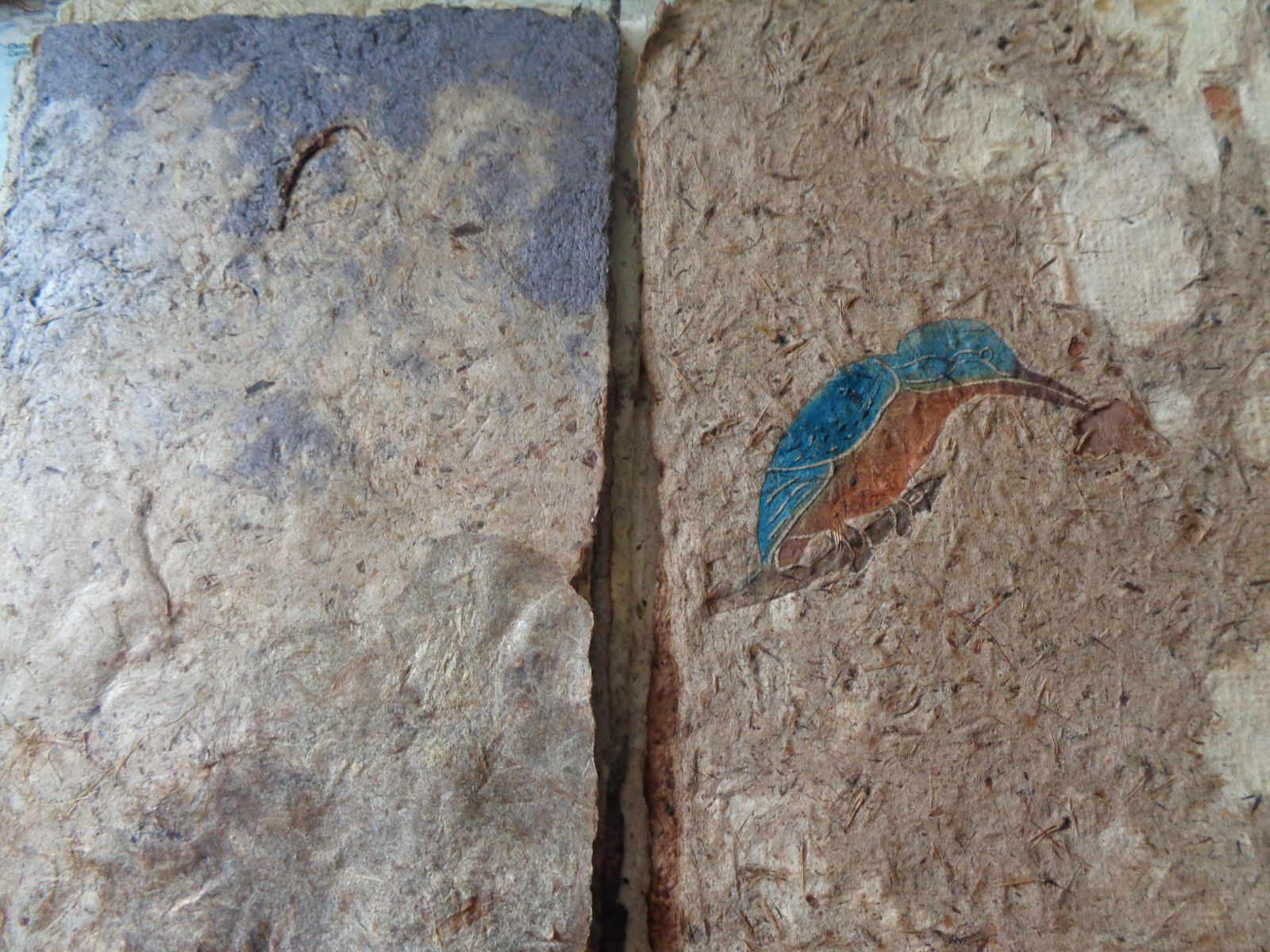 Livre d'oiseaux sur papier végétal